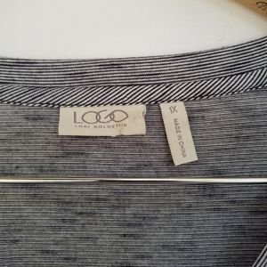 LOGO by Lori Goldstein Tops - LOGO by Lori Goldstein Navy White Space Dyed Tunic